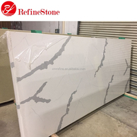 Artificial Calacatta White Quartz Stone Price