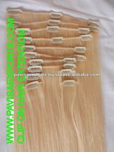 natural blonde curly human hair extensions