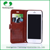 High quality PU flip leather mobile phone cases covers with card slots stand function for iphone 6/ 6 plus