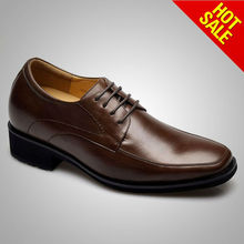brand man high heel leather shoes official shoes for men
