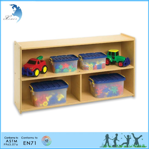 Kindergarten Baby Tool Furniture Wooden Book Storage Cabinet