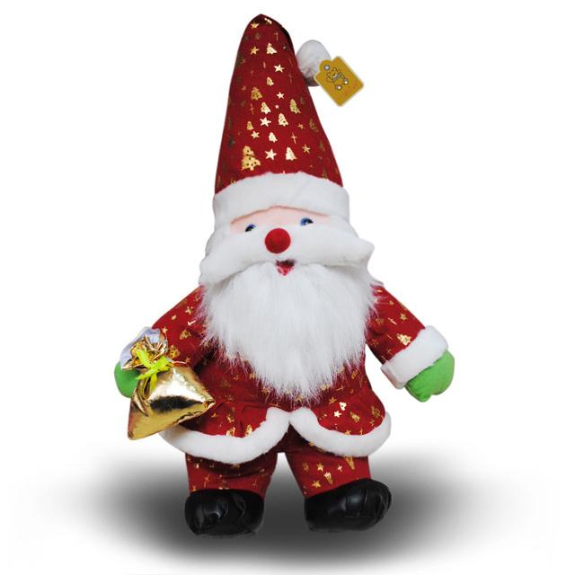 cute christmas plush toys big eyes santa claus stuffed toys lovely soft christmas toy for kids