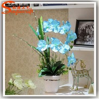 floral artificial blue orchids home decor blue orchids blue artificial orchids wholesale