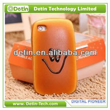 Wholesale Smiling Face Bread Shaped Design 3d cover case for apple iphone 4 4s