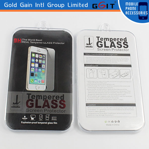 High Quality Premium Real Tempered Glass Film Screen Protector for Samsung S4