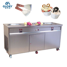 Fried Ice Cream Machine and Food Cart Assembled New Machine for Snack