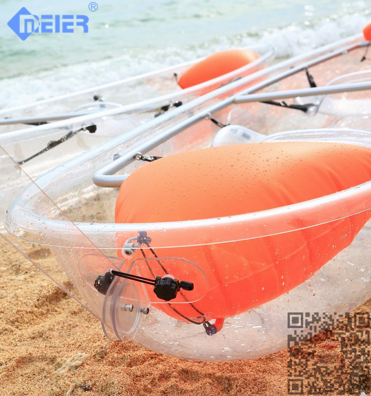 2 Paddlers (Max) and PC Hull Material transparent kayak boat sale