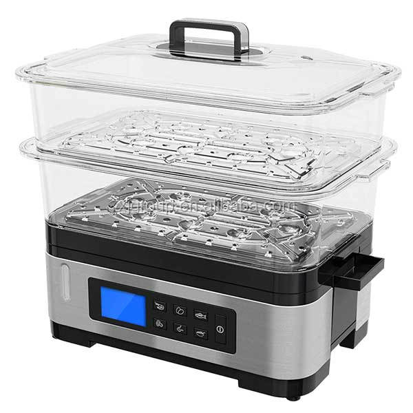 12842BO 2layer 6L BPA FREE stainless steel digital Steam cooker