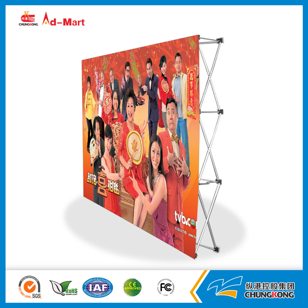 Strengthen Type Aluminum Velcro Pop up Banner (Mental hook)