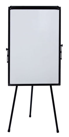 Triop flip chart board square tubes 65 * 100cm teaching or training flipchart board with retractable arms easel stand