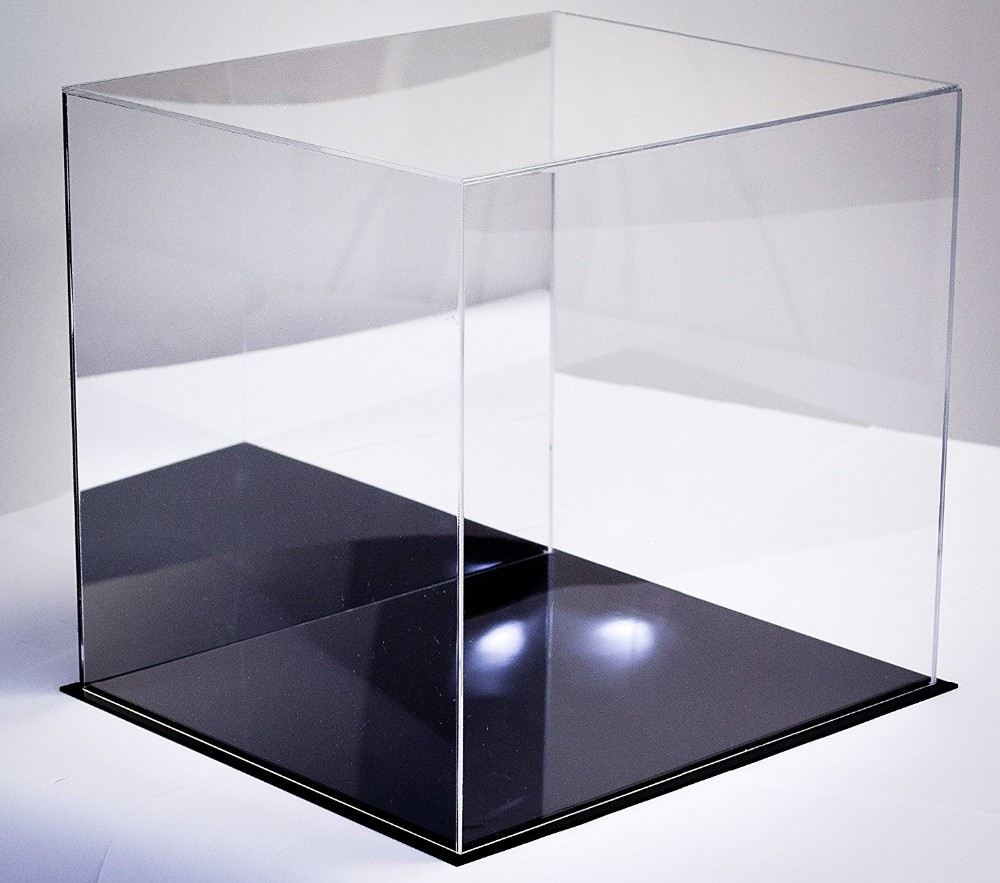 factory custom table top clear acrylic box in Multiple Sizes for Collectibles with UV Protection