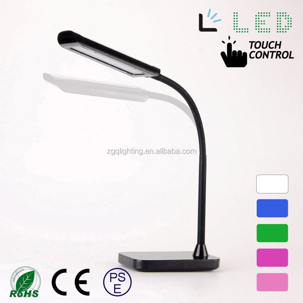 5w Flexible neck rechargable 3 intensity touch led flexible office desk lamp Customized factory