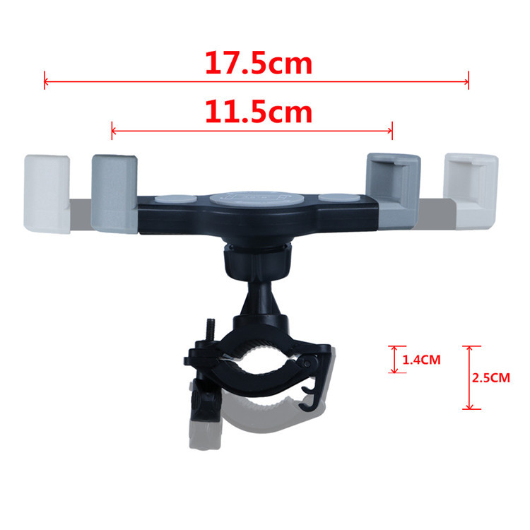 Anti-slip Universal 360 Rotating Bicycle Bike Phone Holder Handlebar Clip Stand Mount Bracket for Smart Cellphone