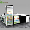 high end retail cell phone accessories kiosk display showcase in mall for sale