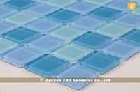 Mosaic Swimming Pool Tile,Blue Color Mosaic