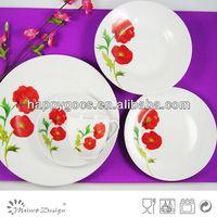 promotion ceramic porcelain cheap round 20pcs dinner set