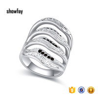 22359 High Quality Vintage Carving Ring Full Size Crystal Rings
