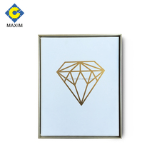 2018 Simple design modern gold foil diamond picture canvas art with frame