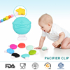 2016 New arrive safety beautiful silicone baby pacifier clip holder