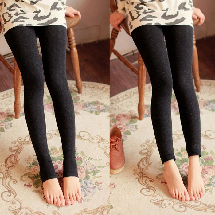 women tight slim thermal legging in winter