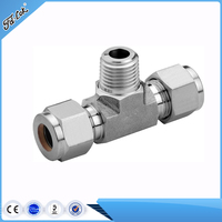 Swagelok Type Tube Fittings, Double Ferrule Compression Tee