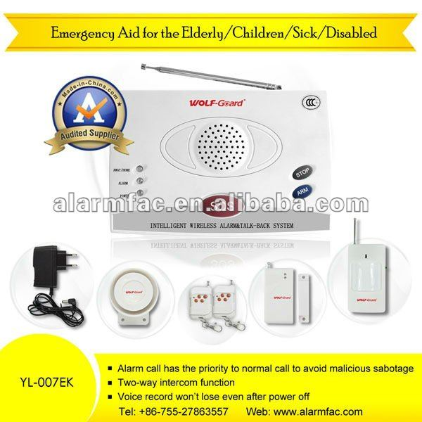 Emengency alert systems wireless for the elderly/children/sick/disabled with panic push button dialer