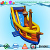 kids outdoor 3d giant inflatable pirate ship slide