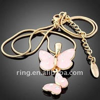 Couples pendants gold butterfly Necklace jewellery pendant hook