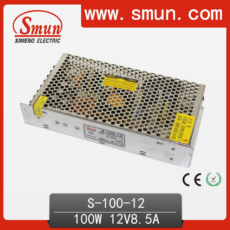 100W AC to DC Single Output Switching Power Supply(S-100-12) 12V 8.5A