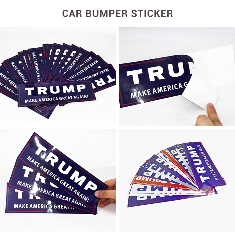 10 Packs White TRUMP Stickers, TRUMP PENCE Stickers 2020