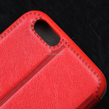 With window leather Diamond Bling PU Leather Flip Case Cover For Huawei Ascend Y300
