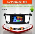 Hifimax Android 8.0 Car GPS DVD Player For Peugeot 508 Radio Navigation Systems Multimedia System Built-in WIFI Bluetooth DVR