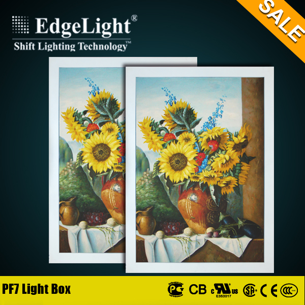 Edgelight China Wholesale super slim plastic led flat light box super bright made in China