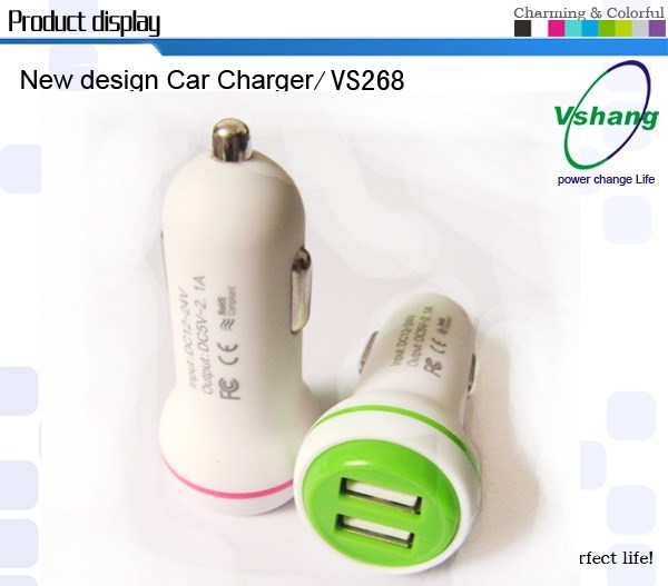 3.1A private model car charger /OEM/ODM dual USB car charger
