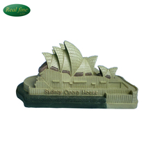 wholesale OEM/ODM 3d resin Sydney Theatre building model Australia tourist souvenirs for decoration home