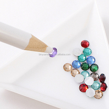 BIN Nail Art dotting White Pen Rhinestone Picker Pencil