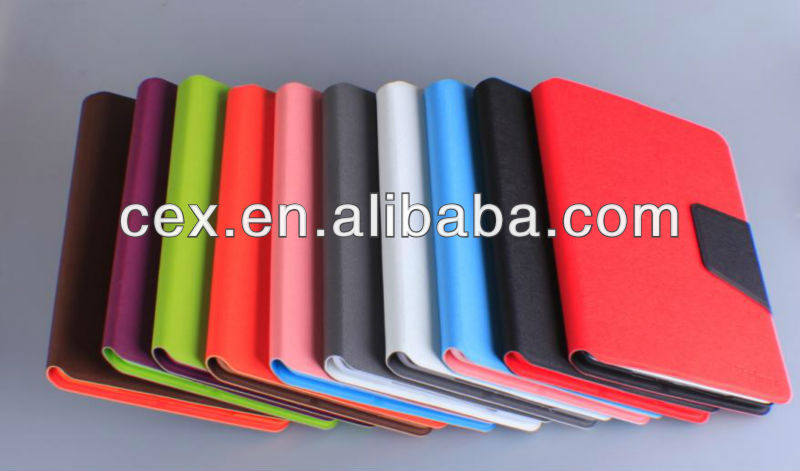Multi Candy Color Wallet PU Leather Card Holder Magnetic Flip Cover Case Stand for iPad Mini