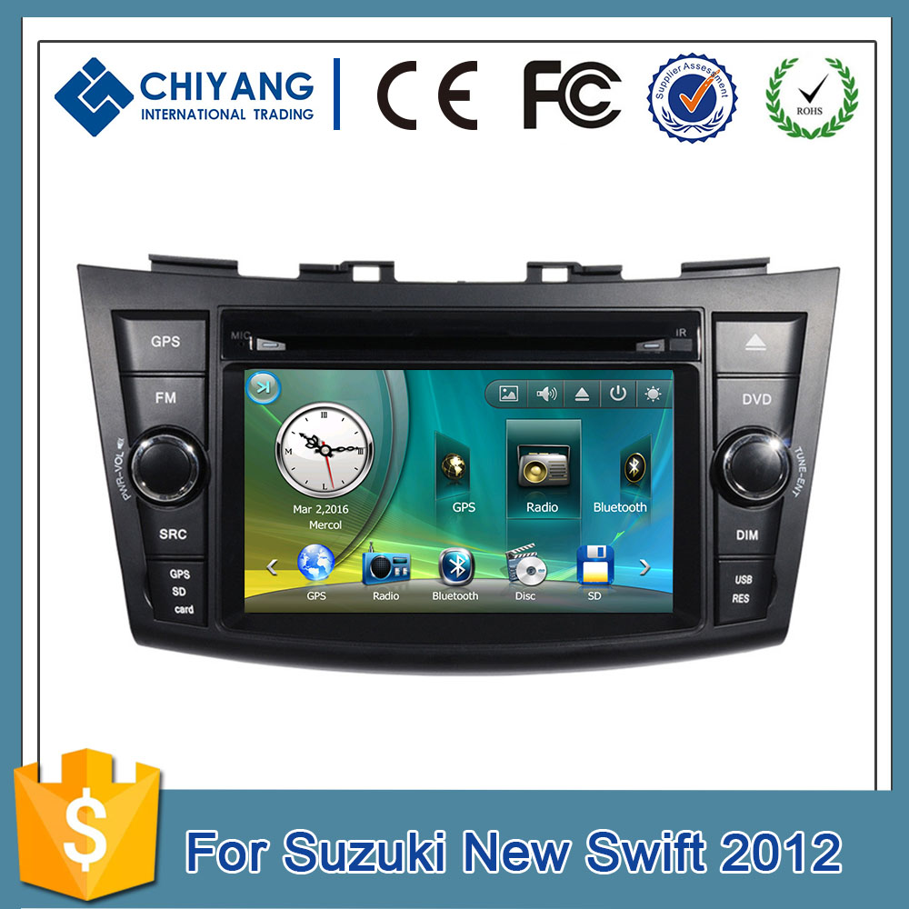 Hot selling 800MHZ ST MTK3360 car 1080P GPS navigation for Suzuki New Swift 2012