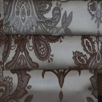 Wholesale free crochet curtain patterns jacquard window curtain fabric