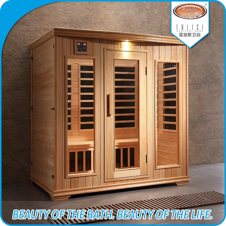 Wholesale price carbon heater 4 person hemlock wood far infrared sauna for sale