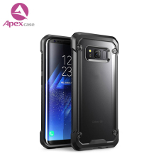 Dual Protective Cover Ultra Clear Acrylic Transparent TPU PC Cell Phone Case for Samsung S8