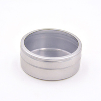 Alibaba china customized round plain metal tin gift case packaging boxes with clear PVC window lid
