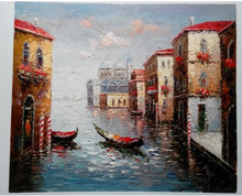 Top Quality Boat in Venice oil painting exporters
