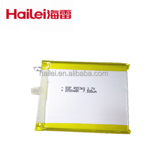 GSP 455368 3.7V/2050mAh Polymer Li-ion Battery/PDA/Electric dictionary battery