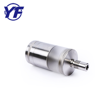 Healthy Life CNC Lathe Turning Machining Electronic Metal Smoking Pipe Parts Stainless Steel Cigarette Fitting