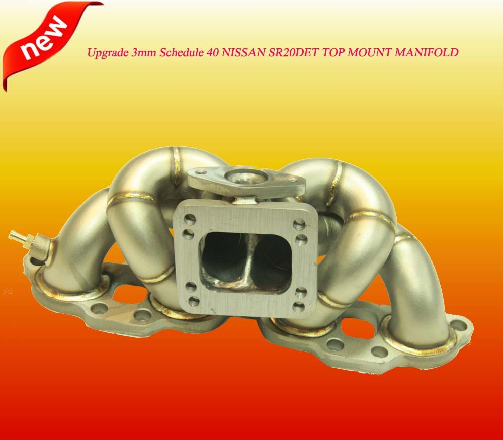 STEAM PIPE 3MM T3 Turbo Top Mount Manifold For Niss*an 240SX S13 SR20DET 89-94