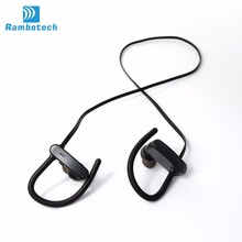 IPX7 waterproof headphone high quality ear hook stereo headset bluetooth sportsless bluetooth 4.0 earphone RU10