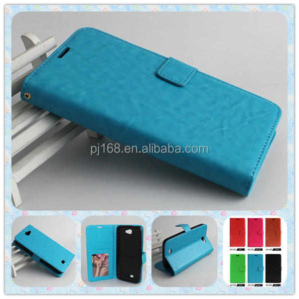 For BLU Pure XL Phone Cover Premium Leather Wallet Stand Case With Cards Slots