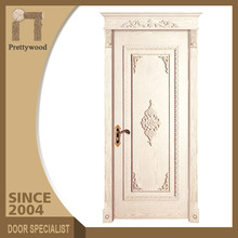 China Hot Sell All original solid wood 100% Thick Solid Wooden Swing Door