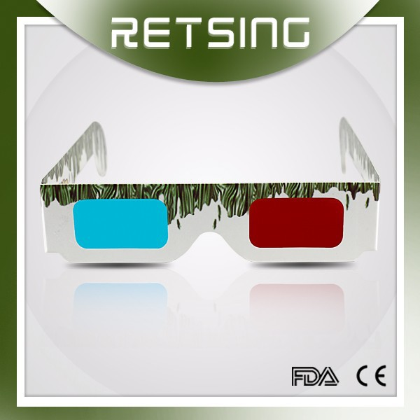China high quality cheap 3d paper glasses, paper anaglyph 3d glasses